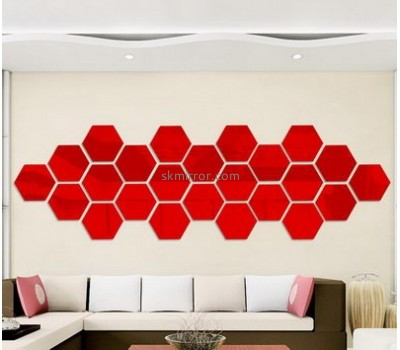 Mirror manufacturers customized 3d acrylic wall decals stickers MS-1086