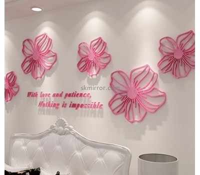 Acrylic plastic supplier customized wall decal mirror stickers MS-1124