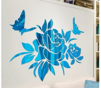 Acrylic manufacturers china custom made wall mirror stickers MS-1153