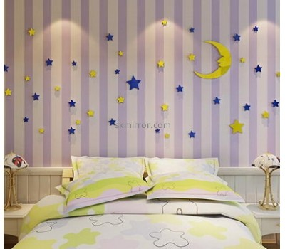 Acrylic manufacturers china customized 3d wall mirror decoration stickers MS-1168