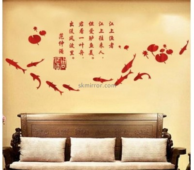 China acrylic manufacturer custom mirror sticker decals for walls MS-1278