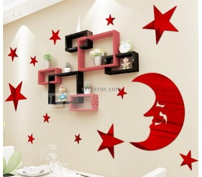 Plexiglass manufacturer custom acrylic star mirrors sticker sale MS-1290