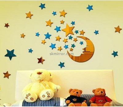 Acrylic factory custom star mirror decals for the wall MS-1310