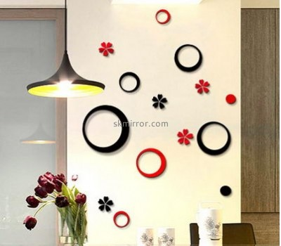 Acrylic plastic supplier custom small wall decor mirror stickers MS-1367