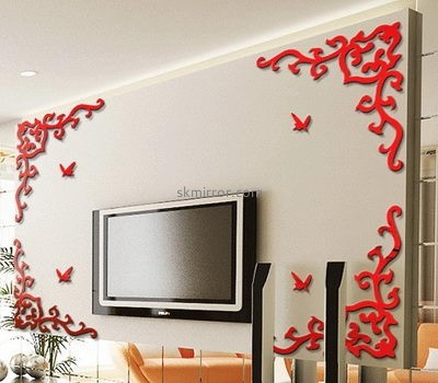 Lucite manufacturer custom 3d stickers wall design decals MS-1375