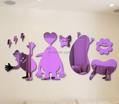 Acrylic products manufacturer custom 3d wall stickers for home decoration MS-1379