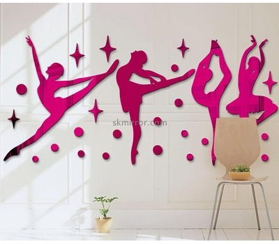 Perspex manufacturers custom acrylic mirror wall decor stickers MS-1401