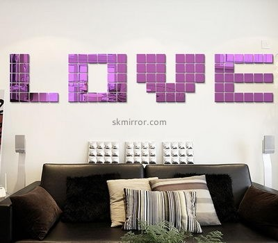 Acrylic manufacturers china custom acrylic wall decals mirror stickers for home MS-1430