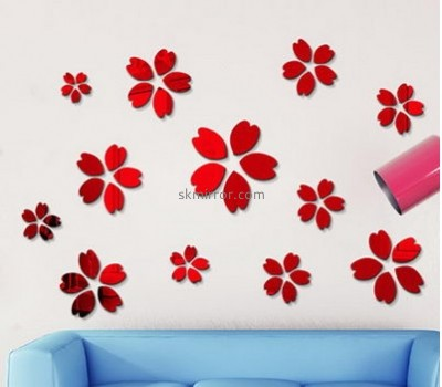 Acrylic products manufacturer custom wall decor mirror stickers MS-1521