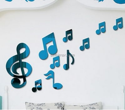 Perspex manufacturers custom acrylic wall decor mirror stickers MS-1533