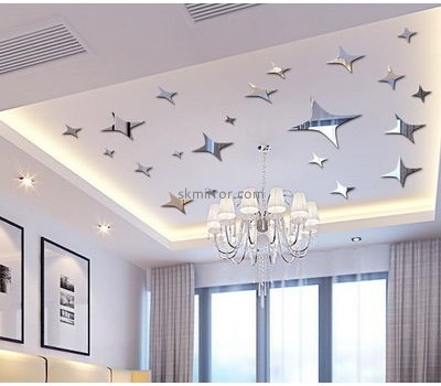 Customized acrylic star mirror wall decals stickers MS-1562