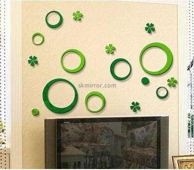 Customized acrylic mirror wall art stickers MS-1565
