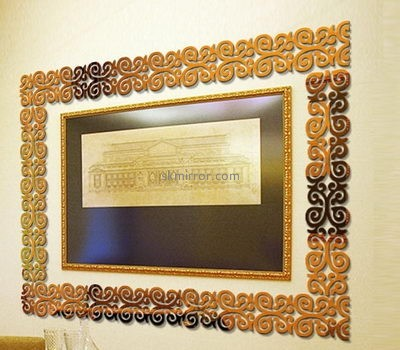 Customized acrylic mirror 3d wall stickers MS-1568