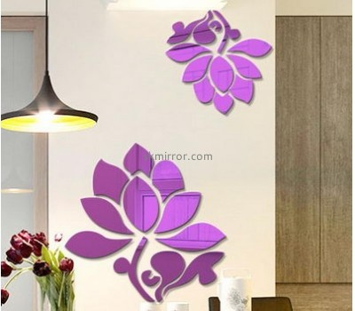 Customized acrylic mirror family wall decals stickers MS-1570