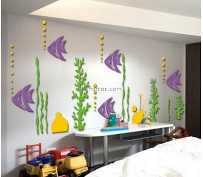 Customized acrylic wall mirror decorative stickers MS-1597