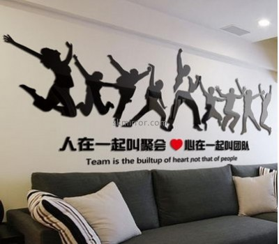 Bespoke acrylic 3d mirror wall stickers MS-1620