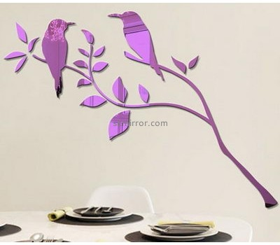 Bespoke acrylic wall decals cheap mirror stickers MS-1627