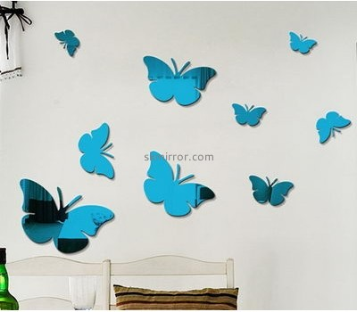 Bespoke acrylic mirror butterfly wall decals MS-1636