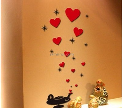 Bespoke acrylic mirror wall stickers for bedrooms MS-1656
